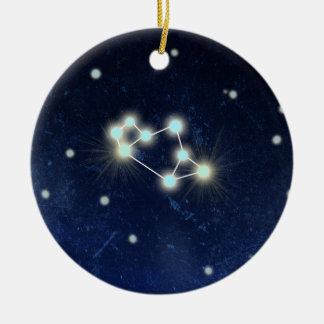 Sagittarius Constellation | Custom Name Round Ceramic Ornament