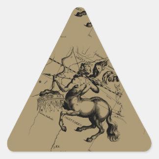 Sagittarius Constellation Map Engraving Hevelius Triangle Sticker