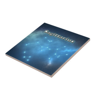 Sagittarius constellation tile