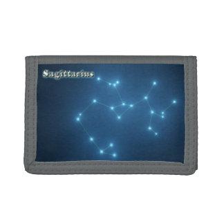 Sagittarius constellation tri-fold wallets