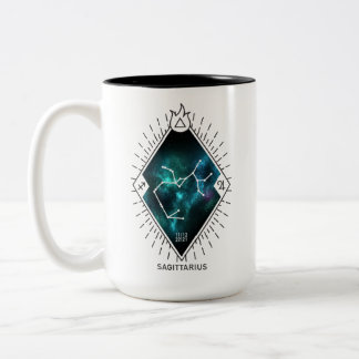 Sagittarius Constellation & Zodiac Symbol Two-Tone Coffee Mug