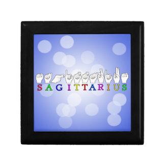 SAGITTARIUS FINGERSPELLED ASL NAME SIGN GIFT BOX