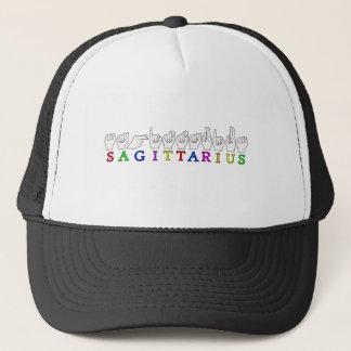 SAGITTARIUS FINGERSPELLED ASL NAME SIGN TRUCKER HAT