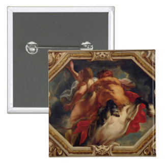 Sagittarius, from the Signs of the Zodiac 2 Inch Square Button