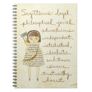 Sagittarius girl notebook