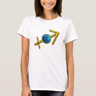 SAGITTARIUS,GOLD BLUE ZODIAC BIRTHDAY SIGN JEWEL T-Shirt