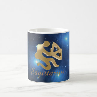 Sagittarius golden sign coffee mug