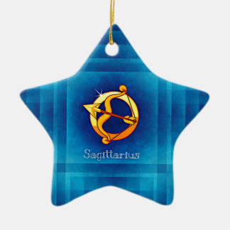 sagittarius horoscope ceramic star ornament