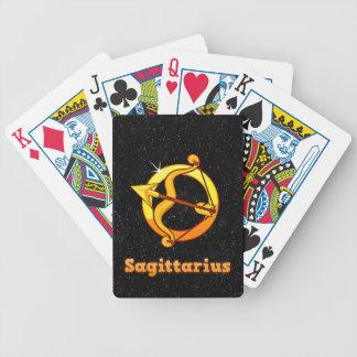 Sagittarius illustration bicycle playing cards