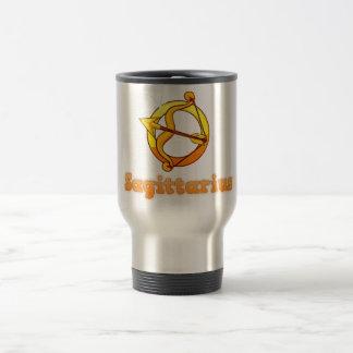 Sagittarius illustration travel mug