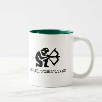 Sagittarius in black Two-Tone coffee mug