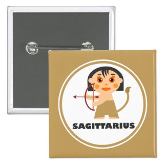 Sagittarius is my Zodiac Sign 2 Inch Square Button