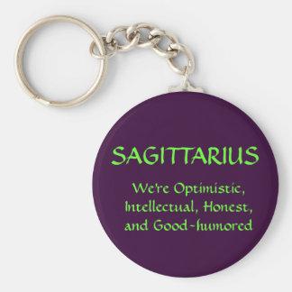 SAGITTARIUS BASIC ROUND BUTTON KEYCHAIN