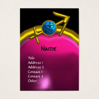 SAGITTARIUS MONOGRAM  pink amethyst blue black Business Card