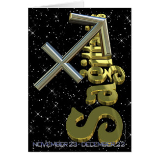 Sagittarius - November 23 to December 21 Card