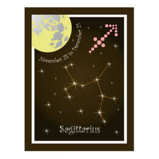 Sagittarius November 23 tons of December 21 Postcard