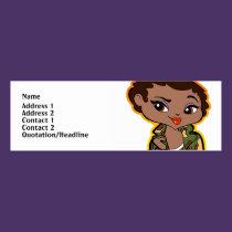 Sagittarius Profile Card business cards