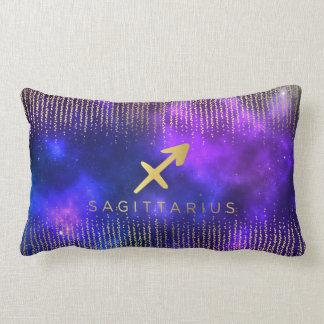 Sagittarius Sign Custom Name Lumbar Throw Pillow