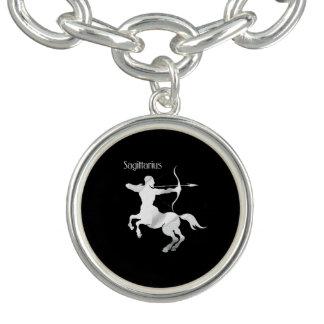 Sagittarius Silver Archer Zodiac Bracelet