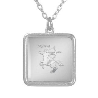 Sagittarius Silver Archer Zodiac Silver Plated Necklace
