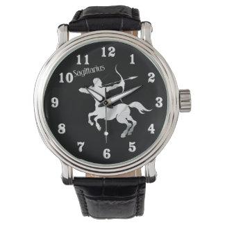 Sagittarius Silver Archer Zodiac Watch