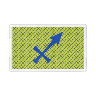 Sagittarius symbol acrylic tray