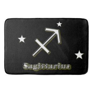 Sagittarius symbol bath mat