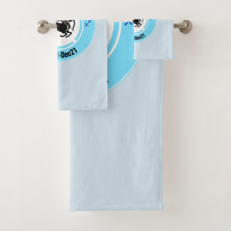 SAGITTARIUS SYMBOL BATH TOWEL SET