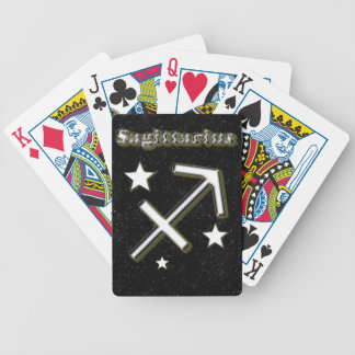 Sagittarius symbol bicycle playing cards