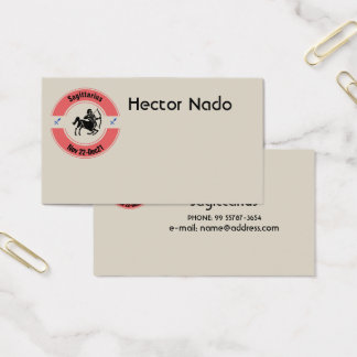 SAGITTARIUS SYMBOL BUSINESS CARD