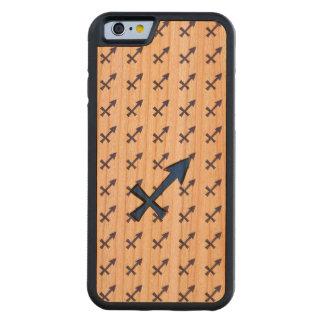 Sagittarius symbol carved cherry iPhone 6 bumper case