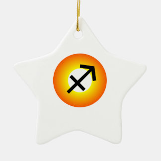 SAGITTARIUS SYMBOL CERAMIC STAR ORNAMENT