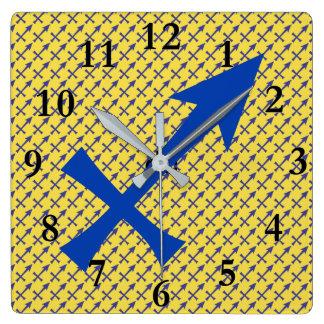 Sagittarius symbol clocks