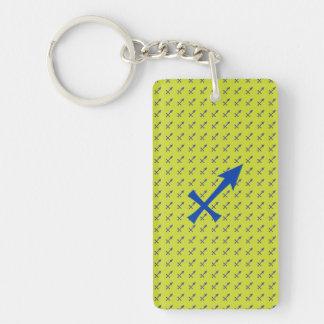 Sagittarius symbol Double-Sided rectangular acrylic keychain