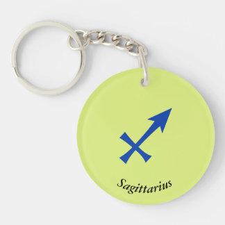 Sagittarius symbol Double-Sided round acrylic keychain