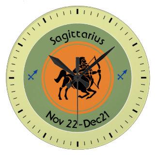 SAGITTARIUS SYMBOL LARGE CLOCK