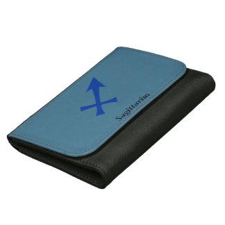 Sagittarius symbol leather wallet for women