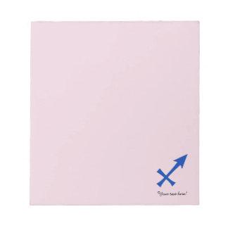 Sagittarius symbol notepads