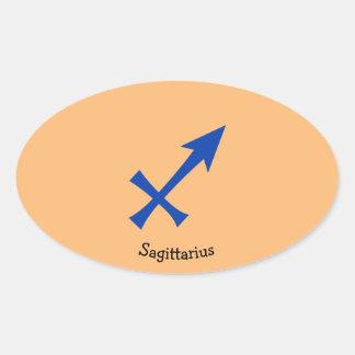 Sagittarius symbol oval sticker