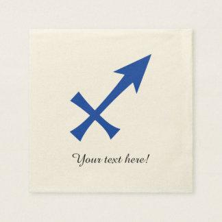 Sagittarius symbol paper napkins