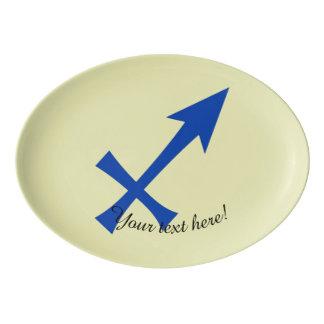 Sagittarius symbol porcelain serving platter