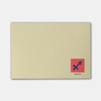 Sagittarius symbol post-it® notes