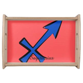 Sagittarius symbol serving tray