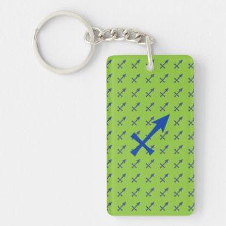 Sagittarius symbol Single-Sided rectangular acrylic keychain