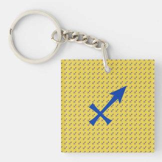 Sagittarius symbol Single-Sided square acrylic keychain