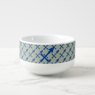 Sagittarius symbol soup mug