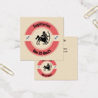 SAGITTARIUS SYMBOL SQUARE BUSINESS CARD