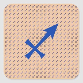Sagittarius symbol square sticker