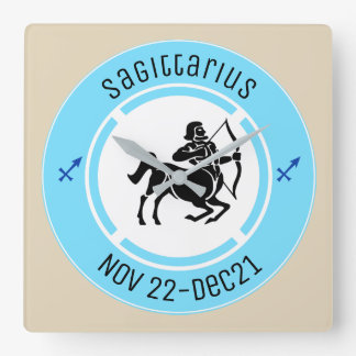 SAGITTARIUS SYMBOL SQUARE WALL CLOCK