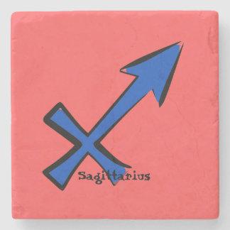Sagittarius symbol stone coaster